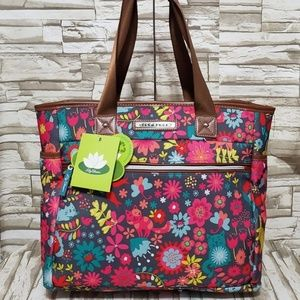 NEW Lily Bloom Cats Playful Garden Tote